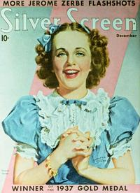 Deanna Durbin - 27 x 40 Movie Poster - Silver Screen Magazine Cover 1930's Style A