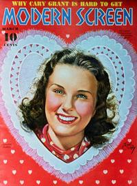 Deanna Durbin - 27 x 40 Movie Poster - Modern Screen Magazine Cover 1930's Style B