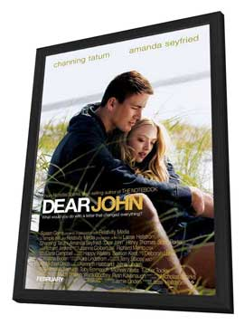 Dear John - 11 x 17 Movie Poster - Style A - in Deluxe Wood Frame