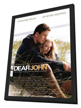 Dear John - 27 x 40 Movie Poster - Style A - in Deluxe Wood Frame