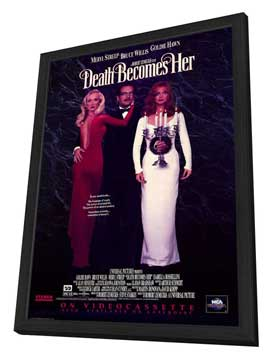 Death Becomes Her - 11 x 17 Movie Poster - Style B - in Deluxe Wood Frame