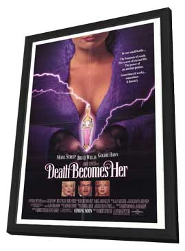 Death Becomes Her - 27 x 40 Movie Poster - Style A - in Deluxe Wood Frame