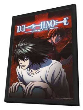 Death Note - 11 x 17 Movie Poster - Japanese Style E - in Deluxe Wood Frame