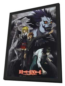 Death Note - 27 x 40 Movie Poster - Japanese Style B - in Deluxe Wood Frame