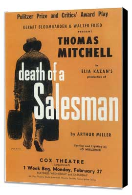 Death Of A Salesman (Broadway) - 11 x 17 Poster - Style A - Museum Wrapped Canvas