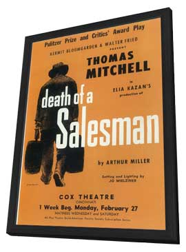 Death Of A Salesman (Broadway) - 11 x 17 Poster - Style A - in Deluxe Wood Frame