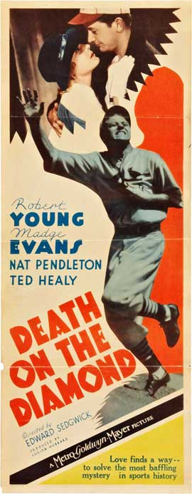 Death on the Diamond - 14 x 36 Movie Poster - Insert Style A