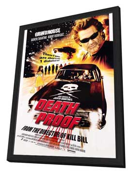 Death Proof - 27 x 40 Movie Poster - Style A - in Deluxe Wood Frame
