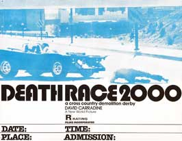 Death Race 2000 - 22 x 28 Movie Poster - Half Sheet Style B
