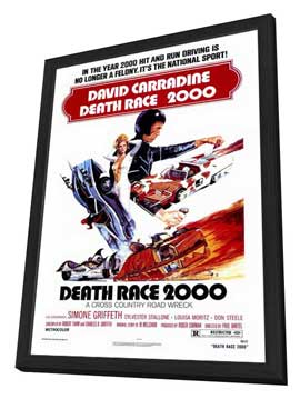 Death Race 2000 - 27 x 40 Movie Poster - Style A - in Deluxe Wood Frame
