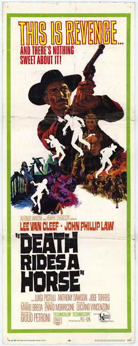 Death Rides a Horse - 14 x 36 Movie Poster - Insert Style A