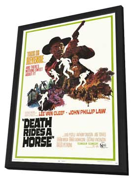 Death Rides a Horse - 27 x 40 Movie Poster - Style A - in Deluxe Wood Frame