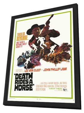 Death Rides a Horse - 11 x 17 Movie Poster - Style A - in Deluxe Wood Frame