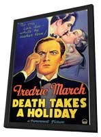 Death Takes a Holiday - 11 x 17 Movie Poster - Style A - in Deluxe Wood Frame