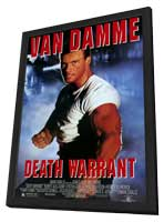 Death Warrant - 27 x 40 Movie Poster - Style A - in Deluxe Wood Frame