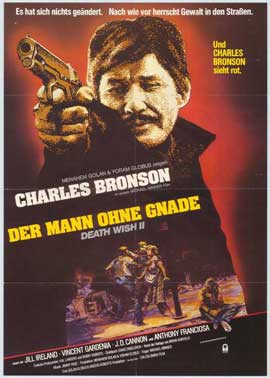 Death Wish 2 - 11 x 17 Movie Poster - German Style A