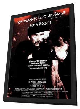 Death Wish 2 - 11 x 17 Movie Poster - Style A - in Deluxe Wood Frame