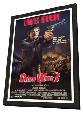 Death Wish 3 - 27 x 40 Movie Poster - Style A - in Deluxe Wood Frame