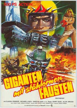 Death Sport - 27 x 40 Movie Poster - German Style A