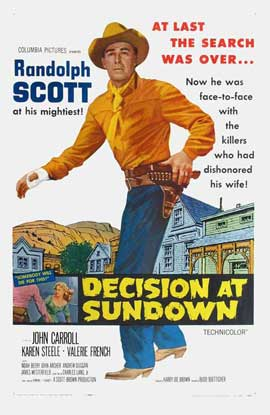 Decision At Sundown - 27 x 40 Movie Poster - Style A