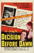 Decision Before Dawn - 27 x 40 Movie Poster - Style B