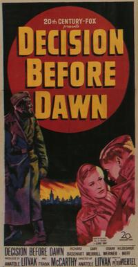 Decision Before Dawn - 11 x 17 Movie Poster - Style A