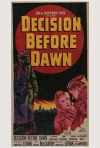Decision Before Dawn - 27 x 40 Movie Poster - Style A