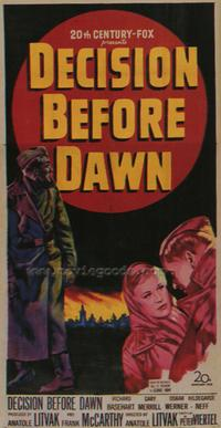 Decision Before Dawn - 43 x 62 Movie Poster - Bus Shelter Style A