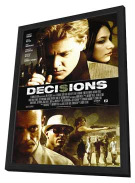 Decisions - 11 x 17 Movie Poster - Style A - in Deluxe Wood Frame