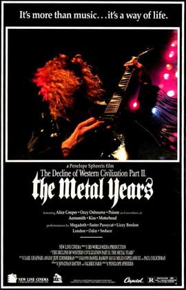 Decline of Western Civilization 2: The Metal Years - 11 x 17 Movie Poster - Style B