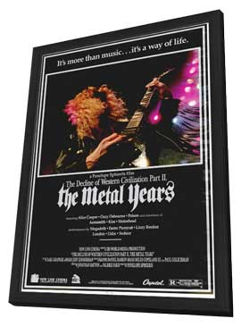 Decline of Western Civilization 2: The Metal Years - 27 x 40 Movie Poster - Style A - in Deluxe Wood Frame