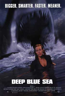 Deep Blue Sea - 27 x 40 Movie Poster - Style A