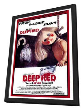 Deep Red - 27 x 40 Movie Poster - Style A - in Deluxe Wood Frame