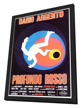 Deep Red - 27 x 40 Movie Poster - Italian Style A - in Deluxe Wood Frame