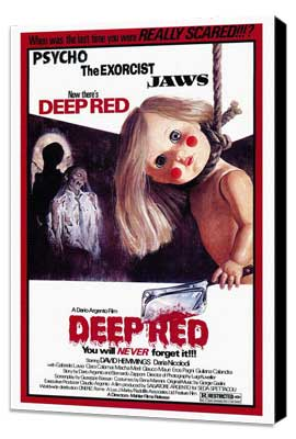 Deep Red - 27 x 40 Movie Poster - Style A - Museum Wrapped Canvas