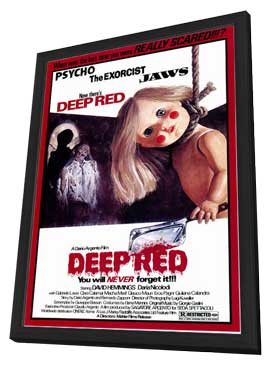 Deep Red - 11 x 17 Movie Poster - Style A - in Deluxe Wood Frame