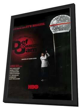 Def Comedy Jam - 11 x 17 TV Poster - Style A - in Deluxe Wood Frame