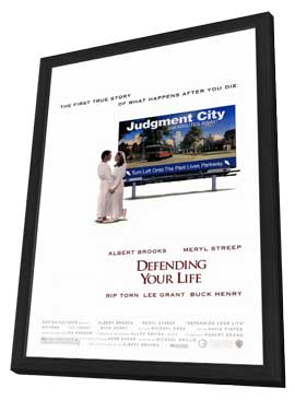 Defending Your Life - 27 x 40 Movie Poster - Style A - in Deluxe Wood Frame