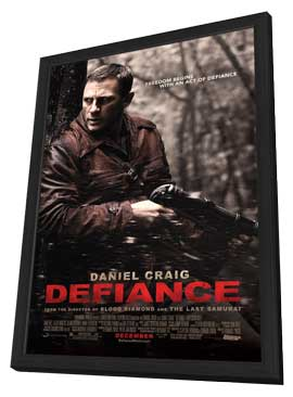 Defiance - 11 x 17 Movie Poster - Style C - in Deluxe Wood Frame