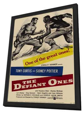 Defiant Ones - 11 x 17 Movie Poster - Style A - in Deluxe Wood Frame