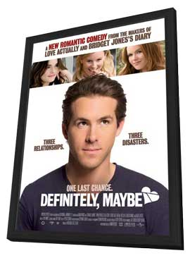 Definitely, Maybe - 11 x 17 Movie Poster - Style B - in Deluxe Wood Frame