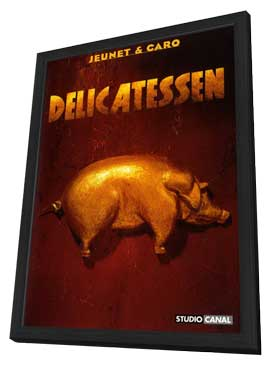 Delicatessen - 11 x 17 Movie Poster - French Style A - in Deluxe Wood Frame
