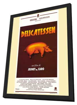 Delicatessen - 27 x 40 Movie Poster - Style A - in Deluxe Wood Frame