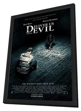 Deliver Us From Evil - 11 x 17 Movie Poster - Style A - in Deluxe Wood Frame