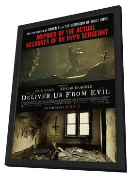 Deliver Us From Evil - 11 x 17 Movie Poster - Style B - in Deluxe Wood Frame