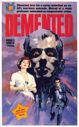 Demented - 11 x 17 Retro Book Cover Poster