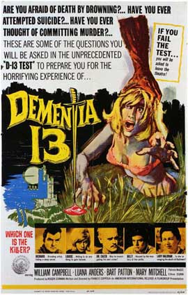 Dementia 13 - 11 x 17 Movie Poster - Style A