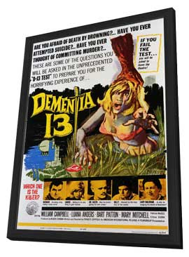 Dementia 13 - 11 x 17 Movie Poster - Style A - in Deluxe Wood Frame