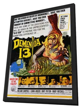 Dementia 13 - 27 x 40 Movie Poster - Style A - in Deluxe Wood Frame