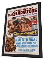 Demetrius and the Gladiators - 11 x 17 Movie Poster - Style A - in Deluxe Wood Frame